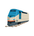 speed modern train locomotive vector image vector image