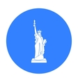 Statue of Liberty icon in black style isolated on vector image vector image