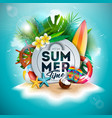 summer time holiday design with flower vector image vector image