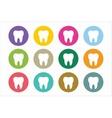 Tooth Icon logo set vector image vector image