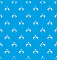 two birds with hearts pattern seamless blue vector image vector image
