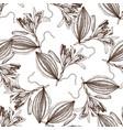 vanilla sketch pattern vector image vector image