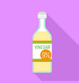 vinegar bottle icon flat style vector image vector image