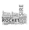 what good is a rocket that fizzles text word vector image vector image