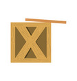 wooden box delivery vector image
