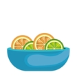 orange fresh fruit isolated icon vector image
