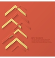 modern arrow technology background vector image