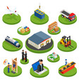 logistics isometric icons set of different vector image
