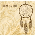 Vintage background with dream catcher vector image
