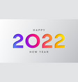 2022 happy new year banner vector image vector image