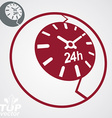 24 hours detailed icon vector image vector image
