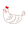 A view of chicken vector image vector image