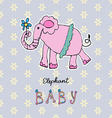 Abstract background children art elephant vector image