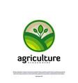 agriculture logo concept nature farm logo design vector image