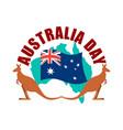 australia day emblem kangaroo australian flag and vector image vector image