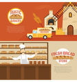 Bakery Horizontal Banners vector image vector image