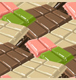 bars chocolate with different tastes seamless vector image