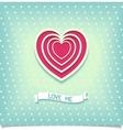 Beautiful retro design heart love me vector image