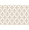 beige and white seamless floral pattern with vector image