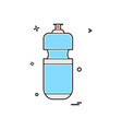 bottle water icon design vector image vector image