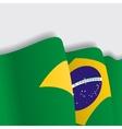 Brazilian waving Flag vector image vector image