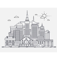 Business center of big city street skyscrapers vector image