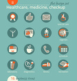 Business icon set Healthcare medicine diagnostics vector image