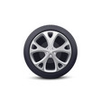 car wheel with disk and rubber tire realistic vector image vector image