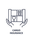 cargo insurance line icon concept cargo vector image vector image