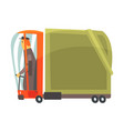 cartoon american truck cargo transport vector image vector image
