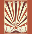 circus vintage brown poster vector image vector image