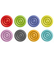 collection of plastic buttons vector image