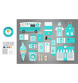 corporate identity template set 8 logo concept vector image vector image