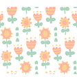cute flowers pattern vector image vector image