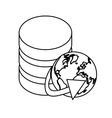 figure database globe connections network design vector image