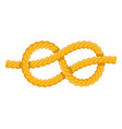 figure eight knot icon flat isolated vector image vector image