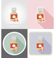 fitness flat icons 15 vector image vector image