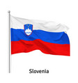 flag republic slovenia vector image