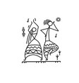 folk ethnic dance for your design vector image vector image