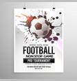 football soccer game tournament flyer brochure vector image vector image