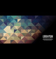 geometric low poly banner design vector image vector image