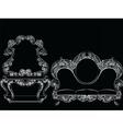 Glamorous Rich Baroque Rococo Furniture vector image vector image