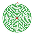 green circle maze with strawberry inside vector image vector image