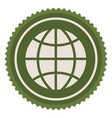 green emblem earth planet icon vector image vector image