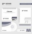gun logo calendar template cd cover diary and usb vector image vector image