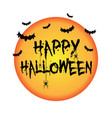 halloween background with bats and spiders vector image vector image