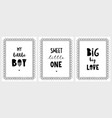 hand drawn posters with a cute quotes in frames vector image