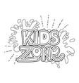 happy kids zone word label with paint splash vector image