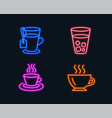 ice tea tea cup and coffee icons soda beverage vector image