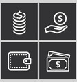 investments money icon vector image vector image